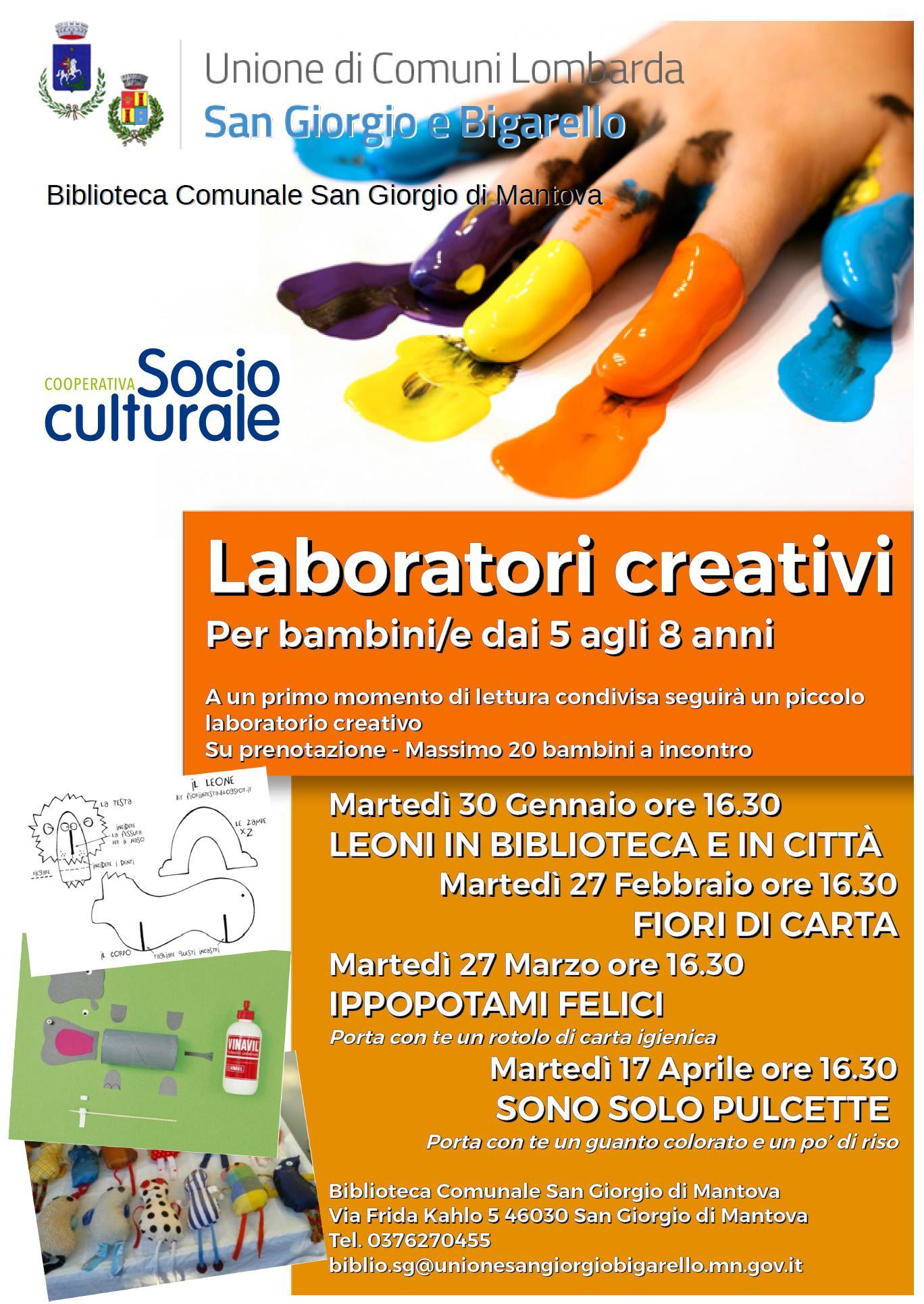 Laboratori Creativi Biblioteche In Rete Della Provincia Di Mantova